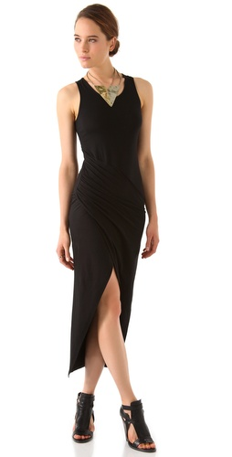 David Lerner Draped Asymmetrical Dress