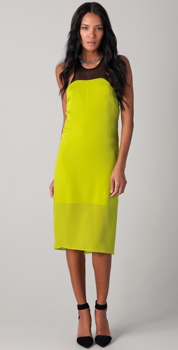 David Lerner Waterfall Midi Tank Dress