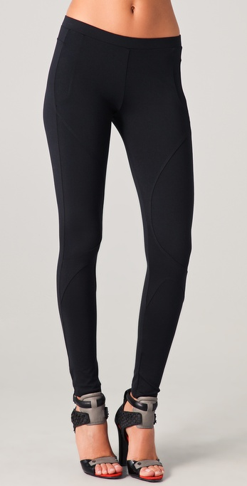 David Lerner Seamed Detail Leggings