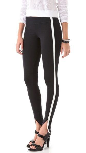 David Lerner Front Ankle Slit Leggings