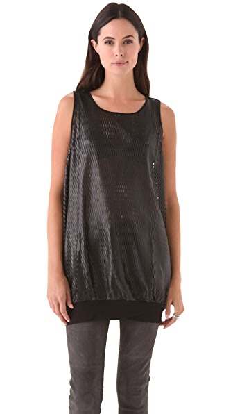 David Lerner Leather Tank