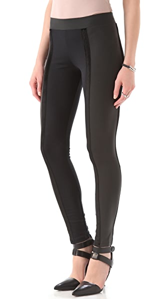 David Lerner Double Velvet Tux Leggings
