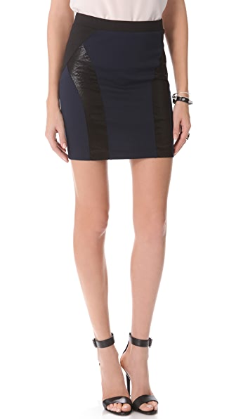David Lerner Colorblock Skirt with Curved Inserts