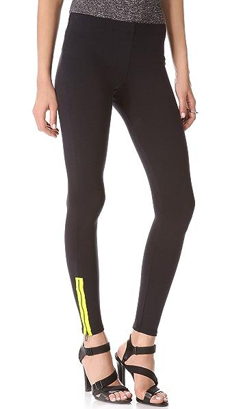 David Lerner Neon Side Zip Leggings
