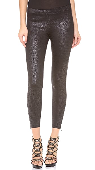David Lerner Classic Side Zip Leggings