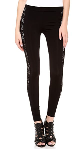 David Lerner Contrast Lace Leggings