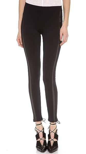 David Lerner Perforated Tuxedo Leggings