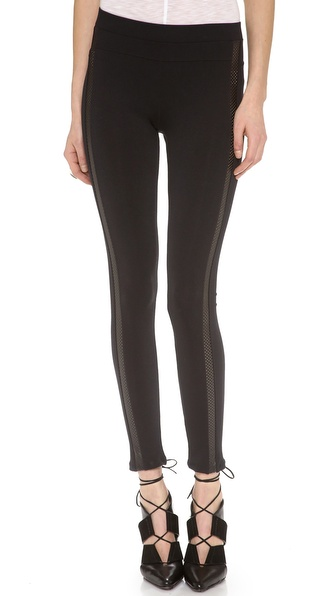 David Lerner Perforated Tuxedo Leggings