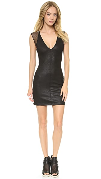 David Lerner David Lerner x Maleficent Coated Lizard Mini Dress