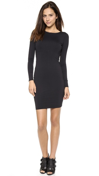 David Lerner Long Sleeve Dress with Back Cutout