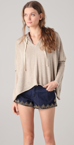 Dolan Lace Hooded Square Pullover