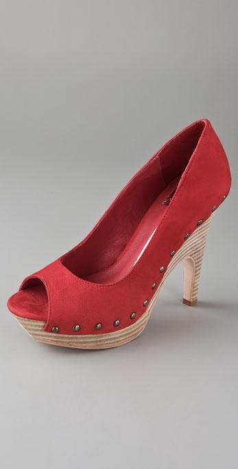 Dolce Vita Apple Suede Clog Pumps