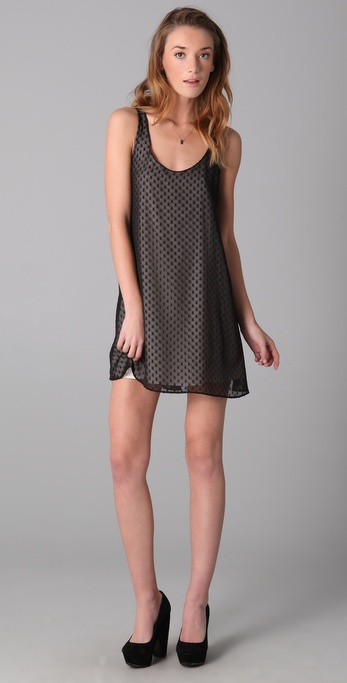 Dolce Vita Cameo Bow Back Swiss Dot Dress