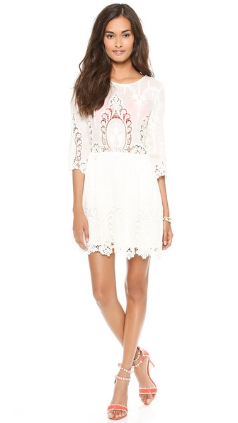 Dolce Vita Valentina Lace Dress - Creme at Shopbop / East Dane