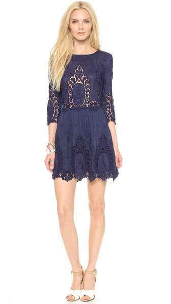 Dolce Vita Valentina Lace Dress - Navy at Shopbop / East Dane