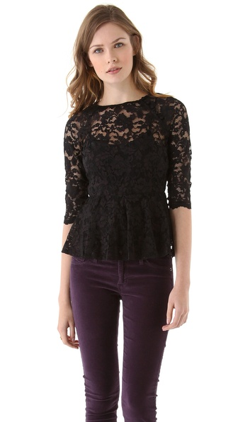 Dolce Vita Becka Lace Peplum Top