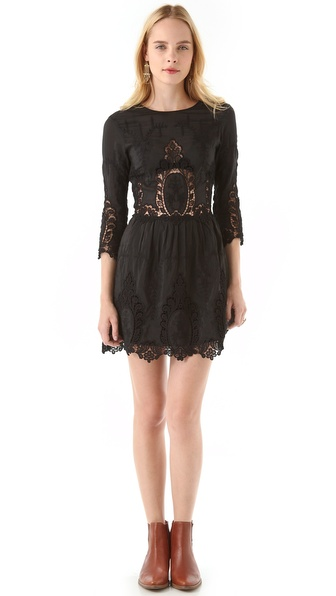 Dolce Vita Valentina Dress With Lace - Black at Shopbop / East Dane