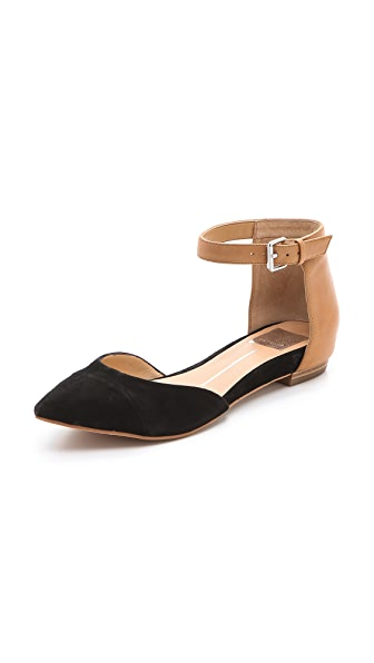 Dolce Vita Gav d'Orsay Flats with Ankle Strap