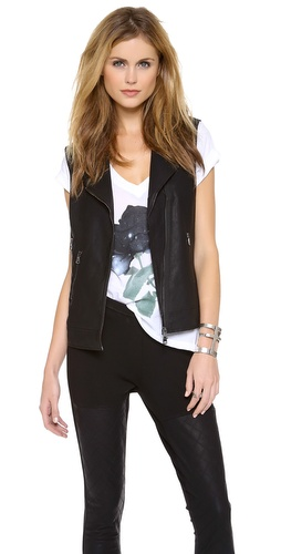 Dolce Vita Felixa Faux Leather Vest at Shopbop / East Dane