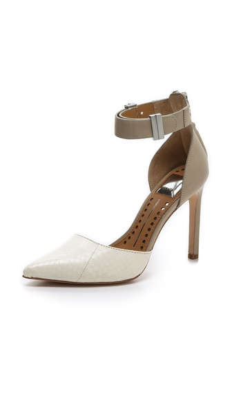 Dolce Vita Kana Ankle Strap D'Orsay Pumps - White at Shopbop / East Dane