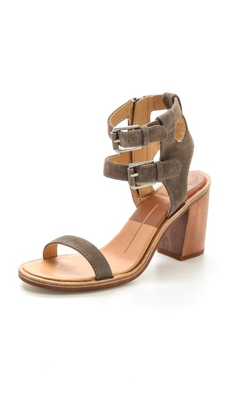 Dolce Vita Cymbal Ankle Band Sandals - Dark Taupe at Shopbop / East Dane