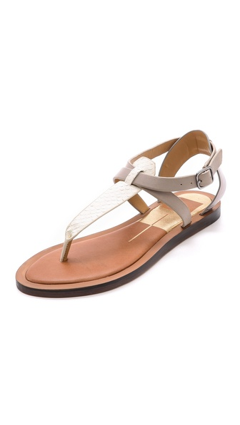 Dolce Vita Fabia Flat Sandals - Off White at Shopbop / East Dane