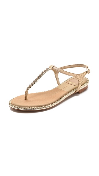 Dolce Vita Ensley Snakeskin Sandals - Gold at Shopbop / East Dane