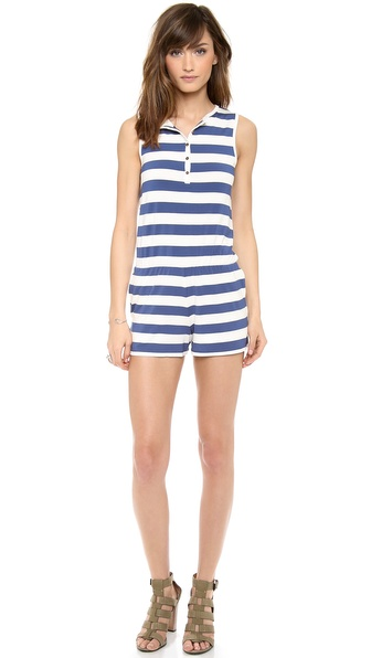 Dolce Vita Lesome Romper - Blue/White at Shopbop / East Dane