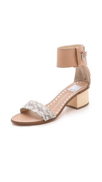 Dolce Vita Foxie Low Heel Sandals - Natural at Shopbop / East Dane