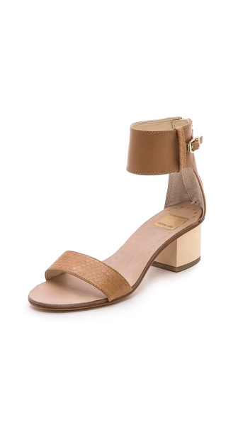 Dolce Vita Foxie Low Heel Sandals - Caramel at Shopbop / East Dane