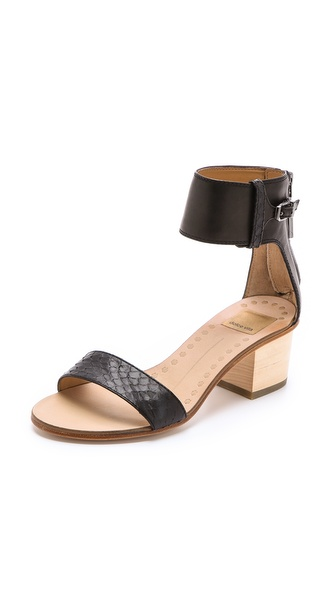 Dolce Vita Foxie Low Heel Sandals - Black at Shopbop / East Dane