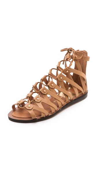 Dolce Vita Fray Gladiator Sandals - Caramel at Shopbop / East Dane