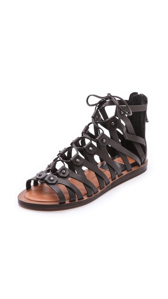 Dolce Vita Fray Gladiator Sandals - Black at Shopbop / East Dane