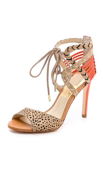 Dolce Vita Hexen Lace Up Haircalf Sandals