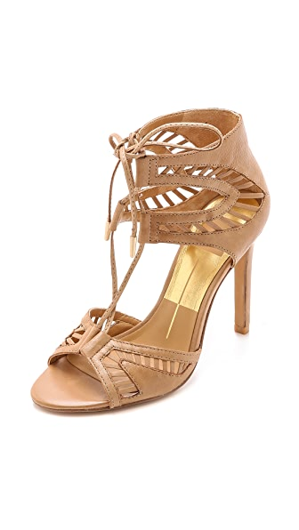 Dolce Vita Henlie Lace Up Sandals - Caramel