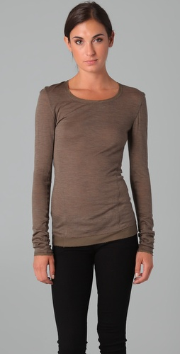 Donna Karan Casual Luxe Long Sleeve Tee