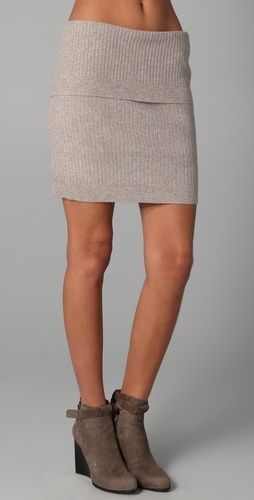 Donna Karan Casual Luxe Ribbed Skirt