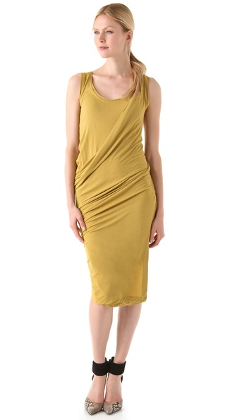 Donna Karan Casual Luxe Draped Foundation Dress