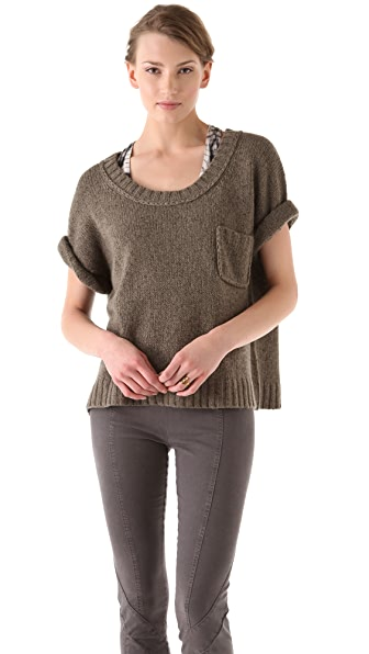 Donna Karan Casual Luxe Elbow Sleeve T-Shirt