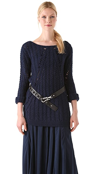 Donna Karan Casual Luxe Long Sleeve Top