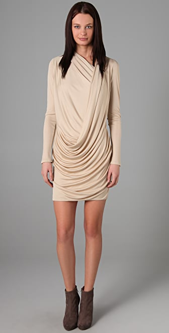 Doo.Ri Long Sleeve Draped Dress