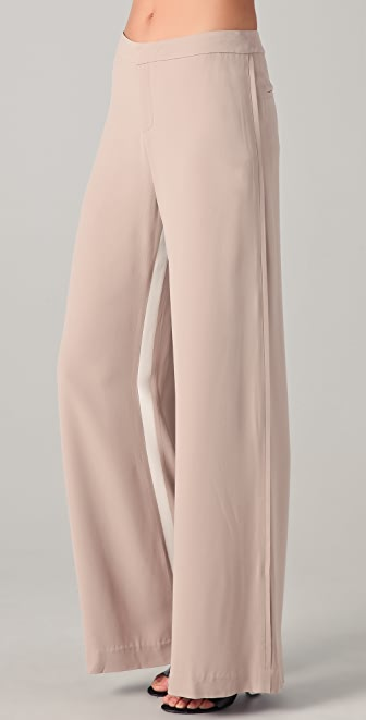 Doo.Ri Side Pleat Pants with Contrast Inseam