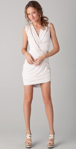 Doo.Ri Sleeveless Draped Dress with Leather Trim