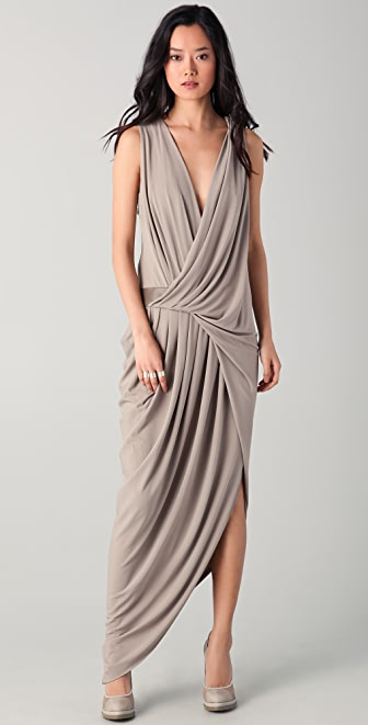 Doo.Ri Sleeveless Gown with Leather Trim