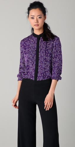 Doo.Ri Long Sleeve Print Blouse