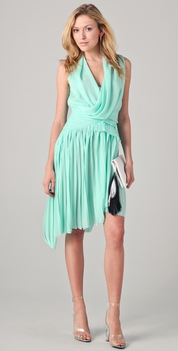 Doo.Ri Dress with Asymmetrical Pleated Skirt