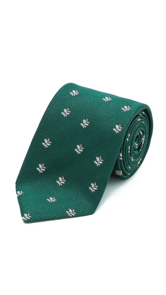 Drake's Leaf Woven Tie