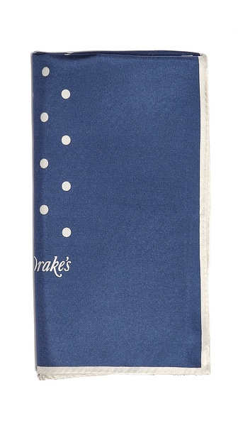 Drake's Spot Silk Pocket Square
