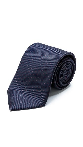 Drake's Dotted Silk Tie