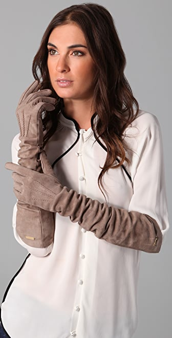 DSQUARED2 Long Suede Gloves